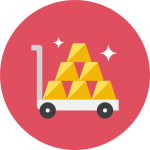 Gold-Cart-icon