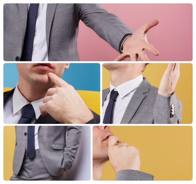 隠そうとしても隠せないのが『手のしぐさ』男性心理