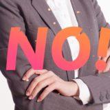 40代からは判断基準を持って「断る・NOと言う」女性になろう!