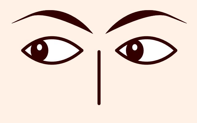目が左に動く・泳ぐ・見る(心理学)