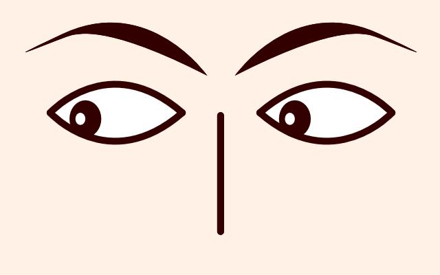 目が左下に動く・泳ぐ・見る(心理学)