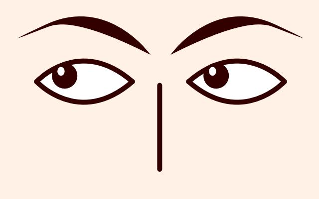 目が左上に動く・泳ぐ・見る(心理学)