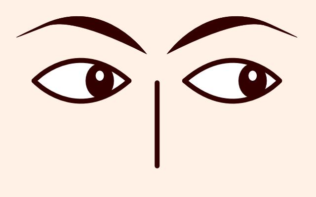 目が右に動く・泳ぐ・見る(心理学)
