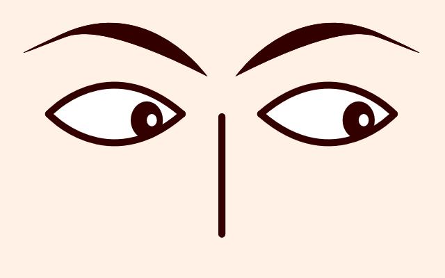 目が右下に動く・泳ぐ・見る(心理学)