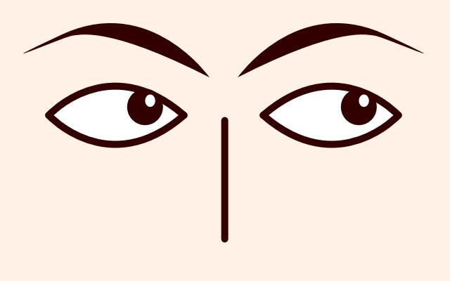 目が右上に動く・泳ぐ・見る(心理学)